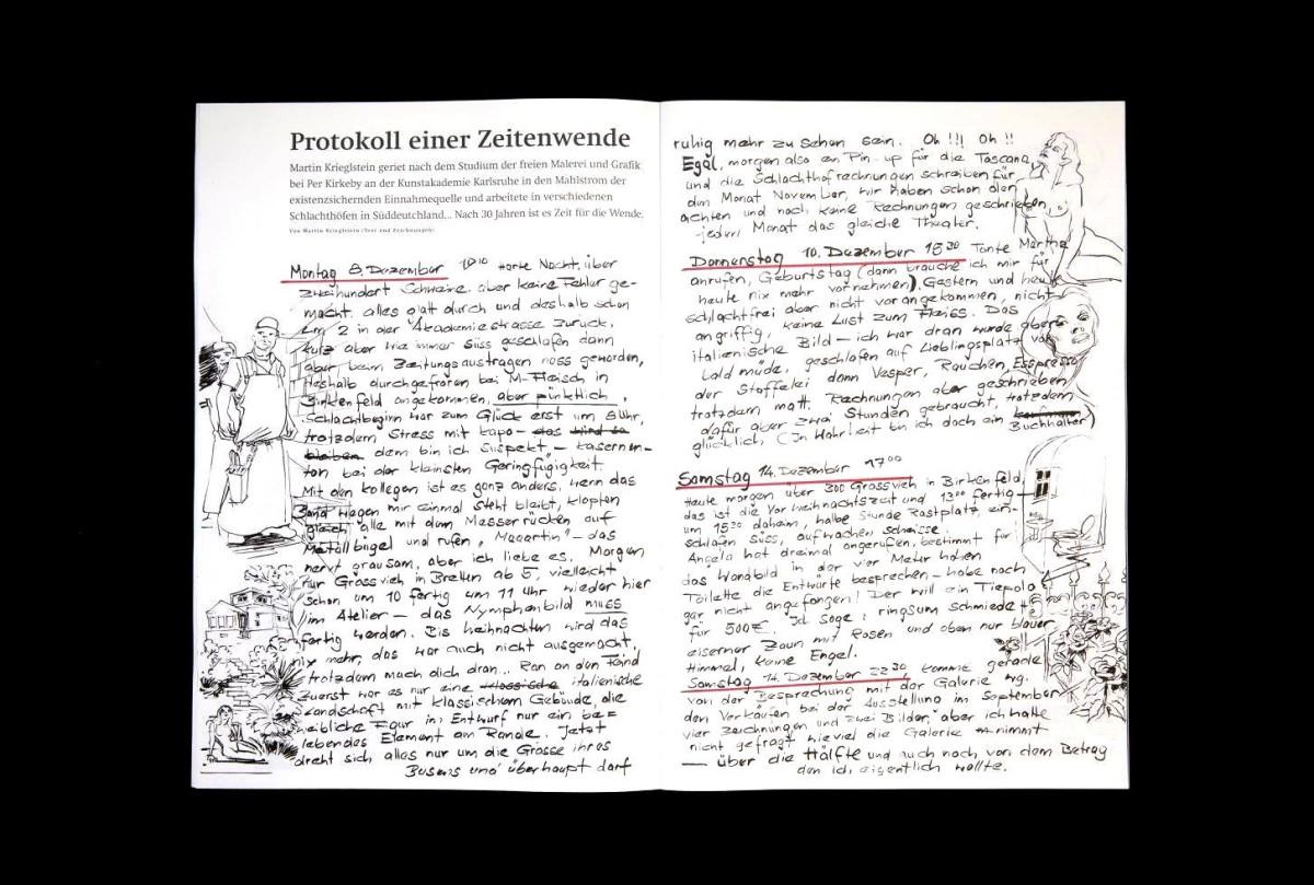 Martin Krieglsteins Zeichnungen und Notizen.