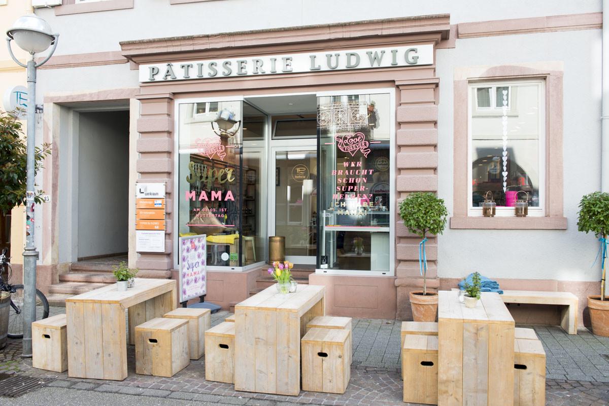 Kavantgarde Lieblingscafe Karlsruhe Patisserie Ludwig außen